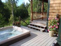 cabin hot tub
